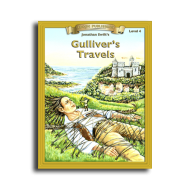 Gulliver's Travels by Jonathan Swift Reading Level 4 Printed Book
