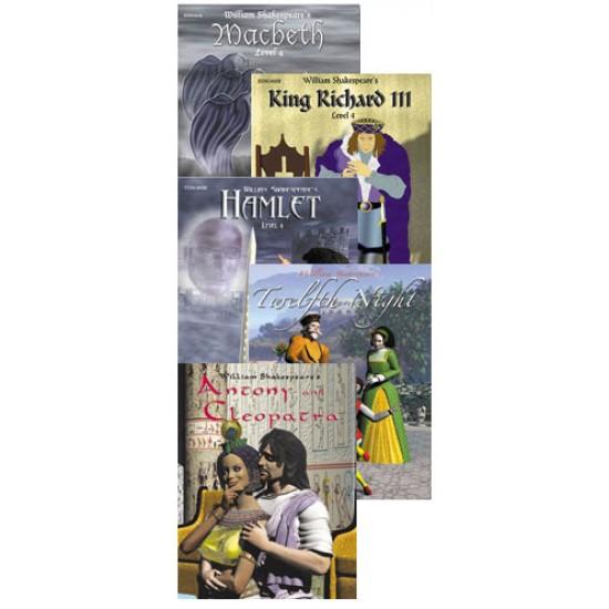 All 5 Grade Level 4 Shakespeare Books