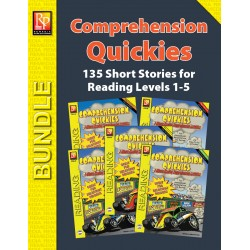 Comprehension Quickies - Reading Level 1-5 (Enhanced eBook Bundle)