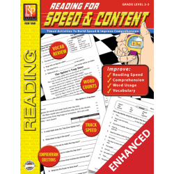Reading for Speed and Content Grade 2-3  Enhanced eBook
