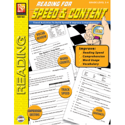 Reading for Speed and Content Grade 3-4  Enhanced eBook