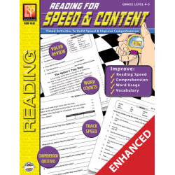 Reading for Speed and Content Grade 4-5  Enhanced eBook