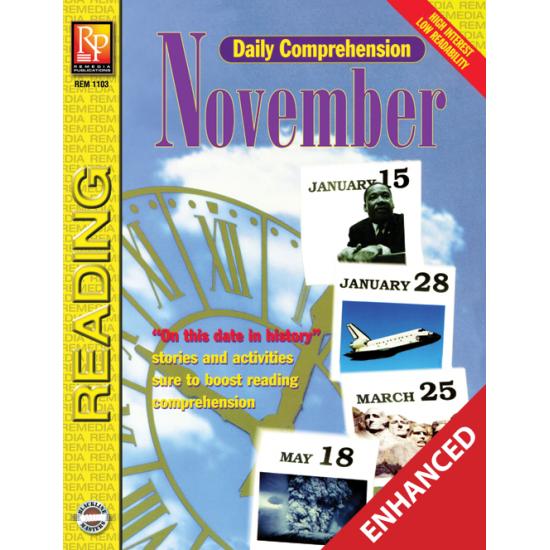 Daily Comprehension: November  Enhanced eBook