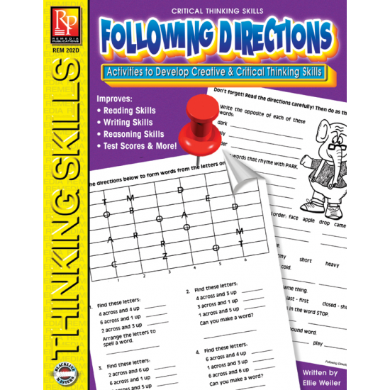 Critical Thinking Skills: Following Directions   eBook