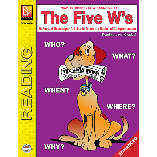 The Five W's  Reading Level 2  Enhanced eBook
