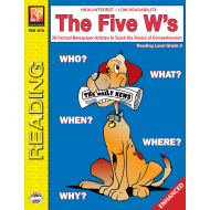 The Five W's  Reading Level 3  Enhanced eBook
