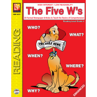The Five W's  Reading Level 4   Enhanced eBook