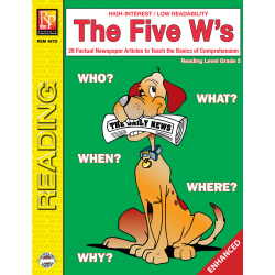 The Five W's  Reading Level 5  Enhanced eBook