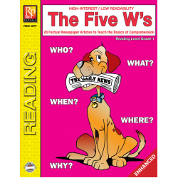 The Five W's  Reading Level 1  Enhanced eBook