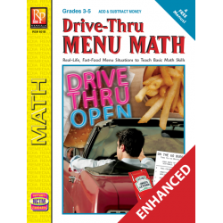 Drive-Thru Menu Math: Add & Subtract Money  Enhanced eBook