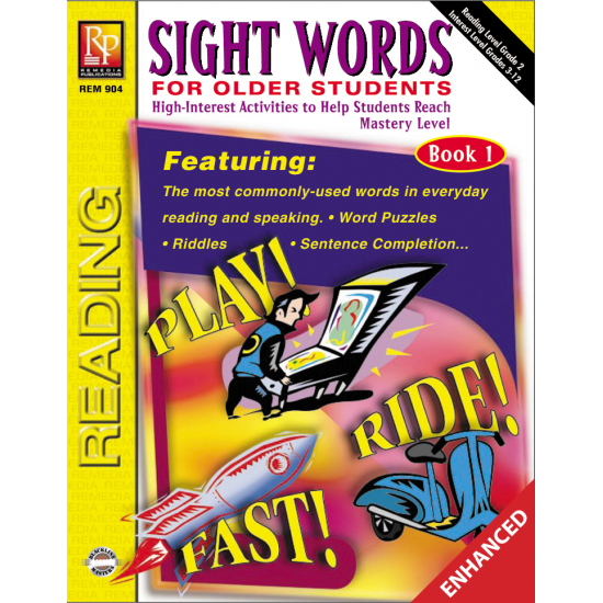 Sight Words For Older Students (Book 1)  Enhanced eBook